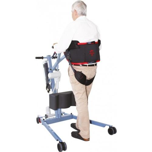 Sangle verticalisateur dorsale et aide à la déambulation