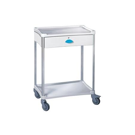 Guéridon standard Résine® 600 x 400 2 plateaux + 1 tiroir