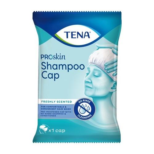 TENA Shampoo Cap ProSkin : Coiffe lavante sans rinçage